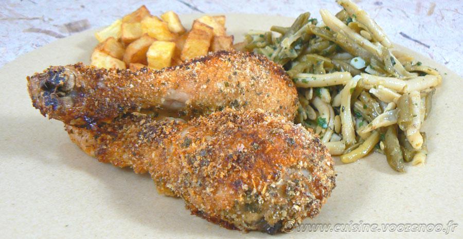 Pilons de poulet en robe de panure slider