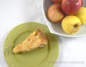 Tarte normande, pommes et amandes fin2