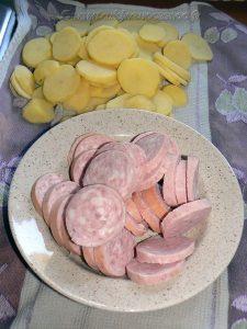 Pommes de terre sautées au saucisson à l'ail etape1