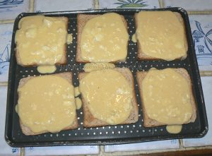 Tartines au camembert et caramel de cidre etape4