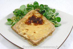 Tartines au camembert et caramel de cidre slider