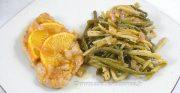 Escalopes de dinde au miel, citron et orange