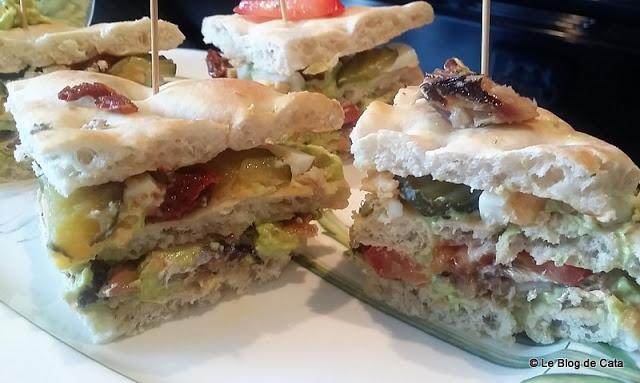 Club sandwich avocat chevre et sardine