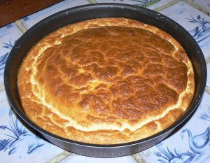 Omelette soufflée au chèvre frais fin