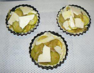 Paniers-Tartelettes feuilletés aux courgettes étape4