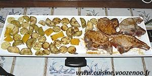 Côtes de porc et légumes marinés à la Plancha